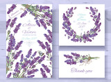 Lavender invitations set - 143040886