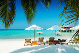 Beautiful nature landscape of tropical island at daytime, Maldives