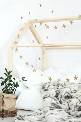Poster Bed decorated with stars