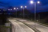 city exit road at night, Nitra, Slovakia - 143060618