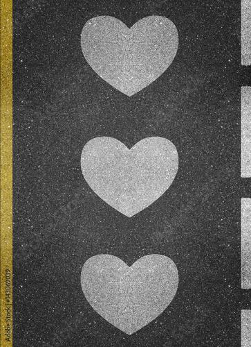 Road Markings - Love Poster