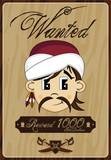 Cartoon Pirate Buccaneer Wanted Poster Wall Sticker