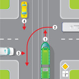 Urban Traffic Top View Concept