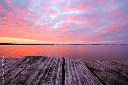 Aluminium Sunrise from dockside