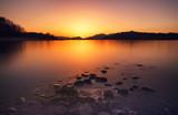 Sunset on lake Liptovska Mara, Slovakia
