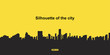The silhouette city. Flat vector illustration EPS10 - 143097012