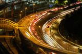 Night scene with heavy traffic in Kuala Lumpur
