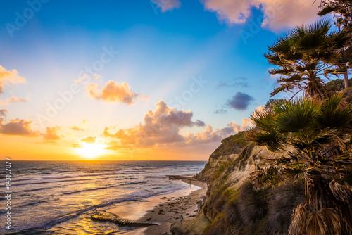 Sunset at Swami's Beach