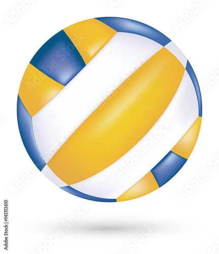 Fototapeta beach volleyball vector on a white background