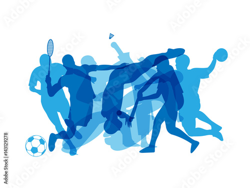 SPORTS SILHOUETTES BANNER