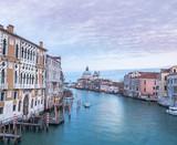Evening light on buildings along Grand Canal,Venice.