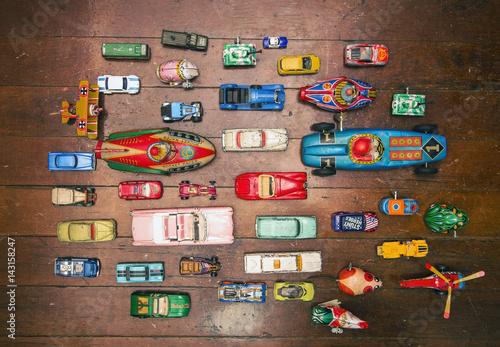 Foto op Canvas a large collection of vintage tin toys