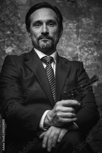 Portrait of a classy modern style villain Poster