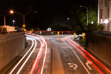 Lights from cars showing the busy lifestyle of modern times