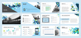 Business presentation templates. Set of vector infographic elements for presentation slides, annual report, business marketing, brochure, flyers, web design and banner, company presentation. - 143189832