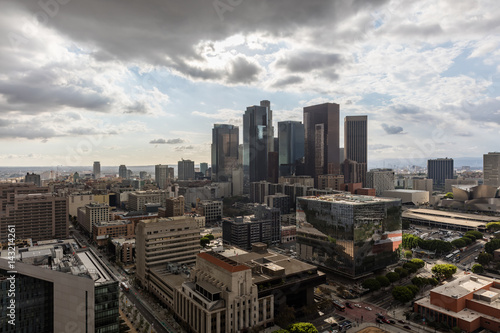 Sky with clouds over downtown Los Angeles