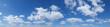 Blauer Himmel mit Schäfchenwolken