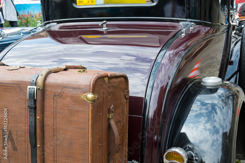 Part of an old classic car