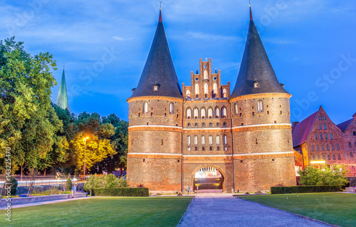 Foto op Canvas Milan The Holsten Gate or Holstentor in Lubeck old town - Germany, Schleswig-Holstein
