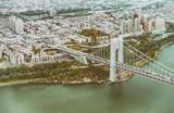 Washington Bridge aerial view, New York