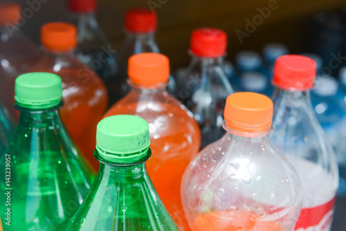 sweet sparkling water in plastic bottle Poster