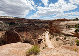The long and winding road in the Canyonlands National Park near Moab, Utah