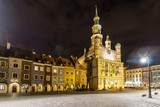 The town hall in Poznan at night