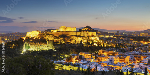Acropolis in the city of Athens, Greece.
