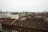 Milan panorama from cathedral, Italy