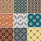 Retro seamless wallpaper patterns