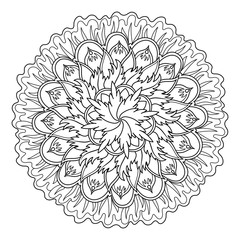 Mandala coloring book vector illustration