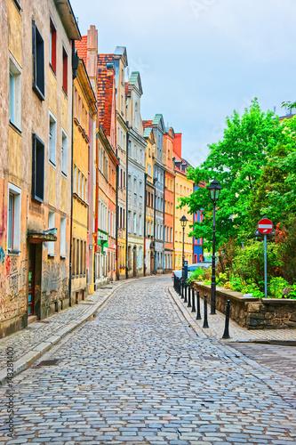 Zdjęcia na płótnie, fototapety na wymiar, obrazy na ścianę : Street in Old town in Wroclaw