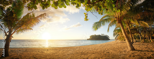Panoramic view on Beautiful colorful sunset over sea. Phillipines Islands. - 143299089