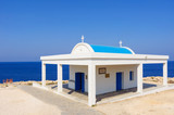 Greek chapel near Cape Greko on Cyprus