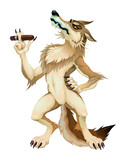 Big bad wolf with cigar