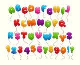 Funny balloon alphabet. - 143315620