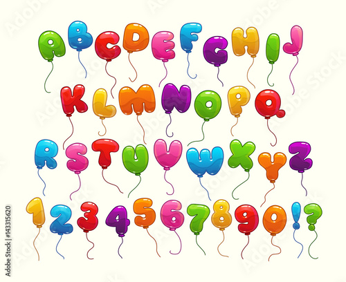 Funny balloon alphabet.