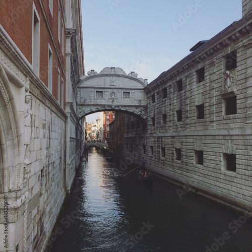 Foto op Aluminium Venice venezia ponte gondola