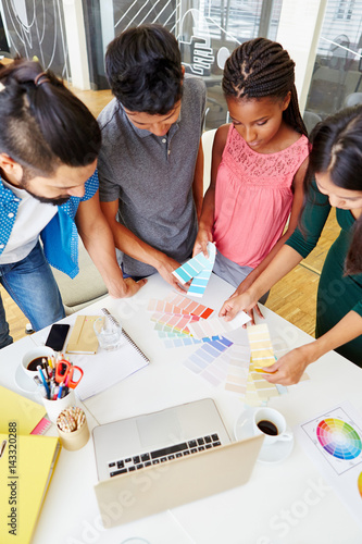 Poster Studenten als Designer Team im Workshop
