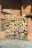 Round wood for the furnace
