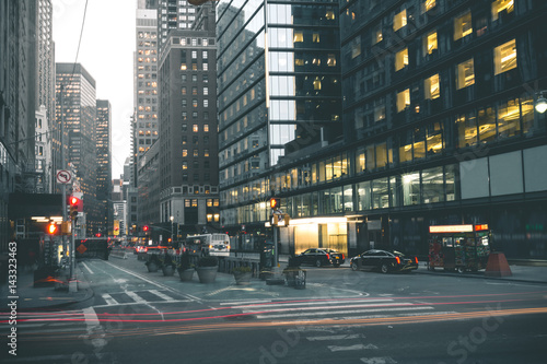 Evening Scene in Manhattan - New York
