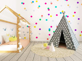 Baby Room Interior, 3d Render - 143334603