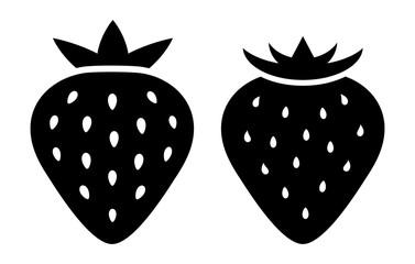Strawberry silhouette vector icon