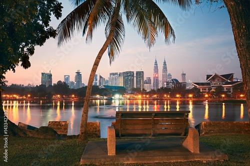 Plexiglas Kuala Lumpur Kuala Lumpur at the sunrise