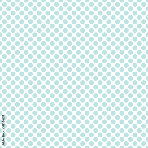 Seamless mint green polka dots pattern texture background - 143350659