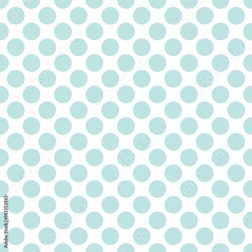 Seamless mint green polka dots pattern texture background - 143353863