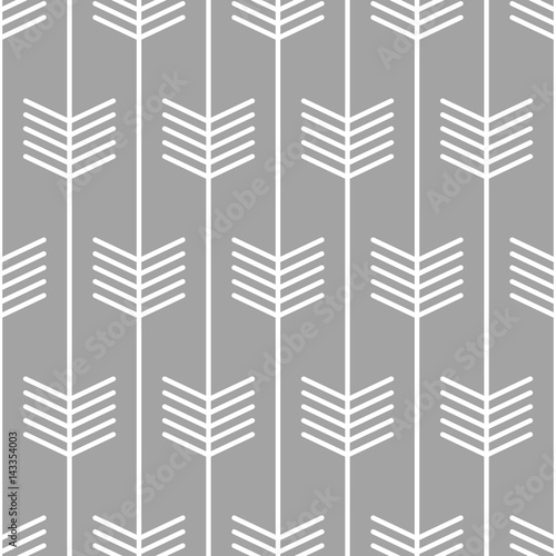Arrow pattern seamless Scandinavian style design. Vector - 143354003