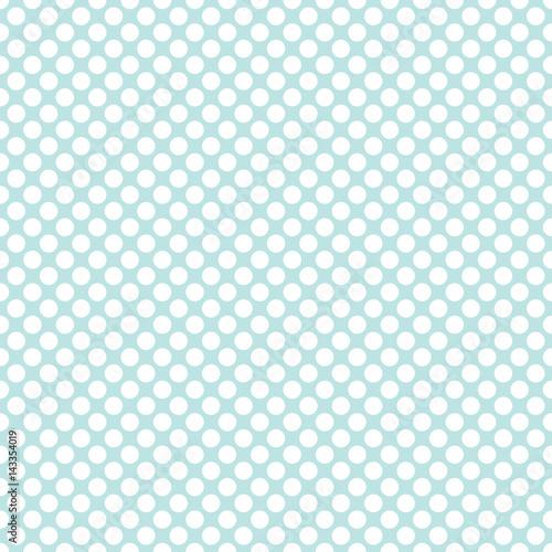 Seamless mint green polka dots pattern texture background - 143354019