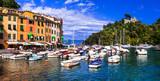 Italian holidays - beautiful colorful town Portofino in Liguria coast