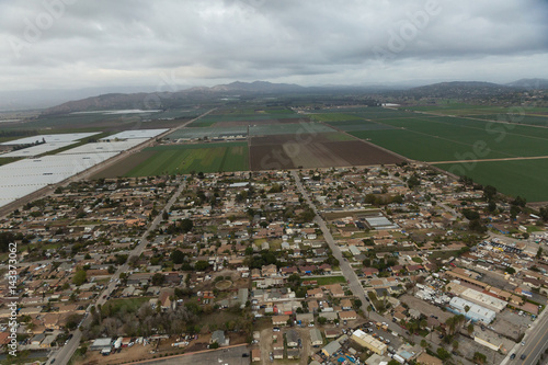 Poster Aerial helicopter shot of Oxnard